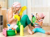 Влажная уборка в квартире, где есть малыш!
